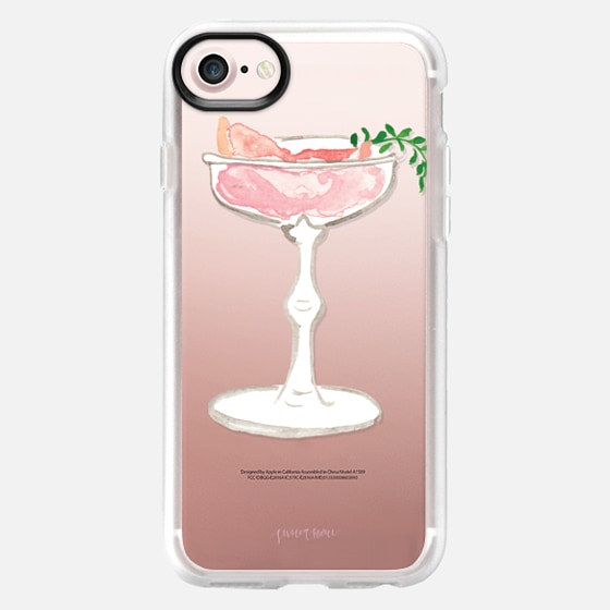 Pink Grapefruit Martini Cocktail by Simply Jessica Marie - Classic Grip Case