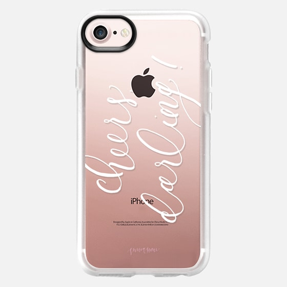 Cheers Darling White Calligraphy by Simply Jessica Marie - Classic Grip Case