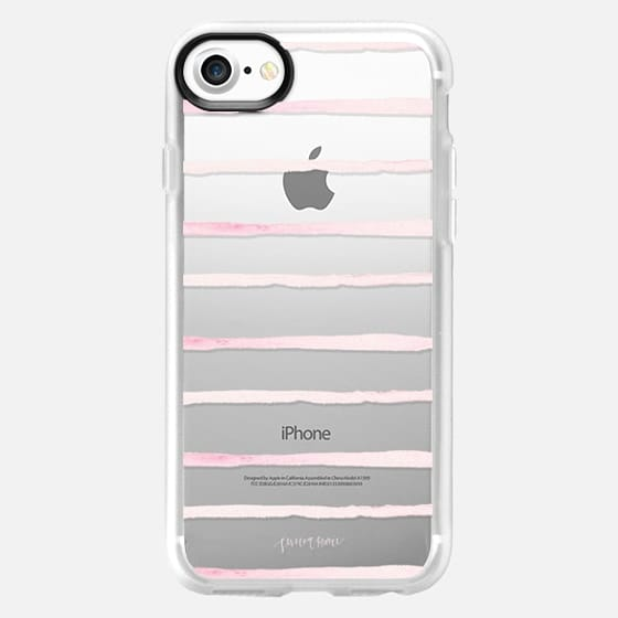 Blush Stripes by Simply Jessica Marie - Snap Case