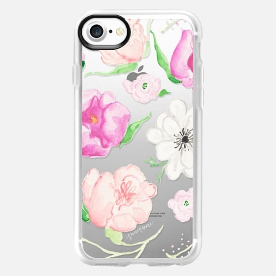 Pink Watercolor Florals by Simply Jessica Marie - Snap Case