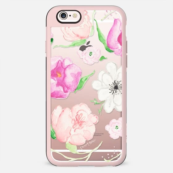 Pink Watercolor Florals by Simply Jessica Marie - New Standard Case