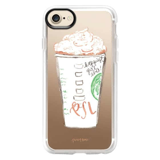 iPhone 7 Cases - Pumpkin Spice Latte Illustration by Simply Jessica Marie