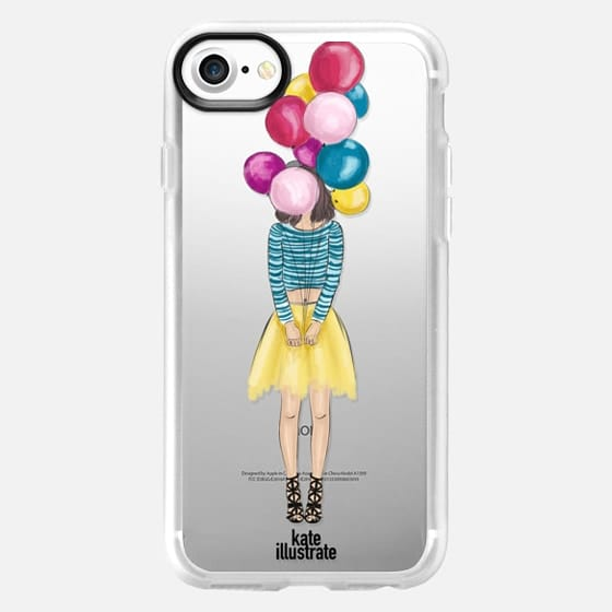 Girl with Balloons - Snap Case