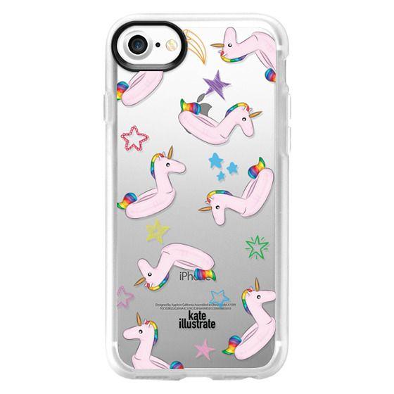 iPhone 4 Cases - Pink Unicorn Float