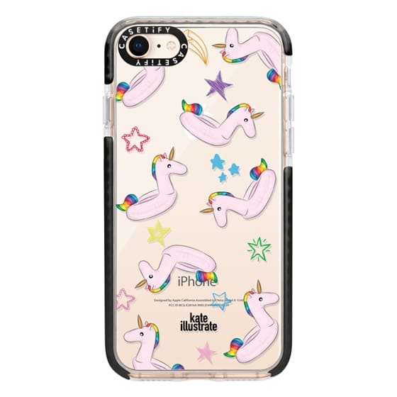iPhone 8 Cases - Pink Unicorn Float
