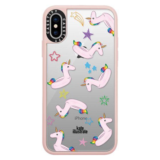 iPhone X Cases - Pink Unicorn Float