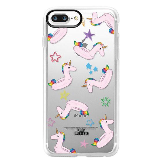 iPhone 7 Plus Cases - Pink Unicorn Float