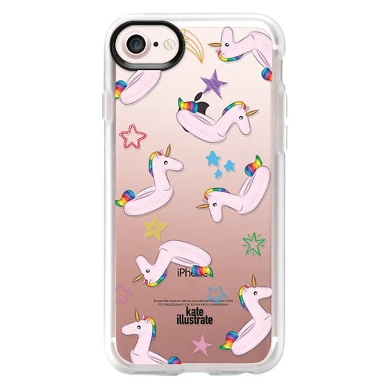 iPhone 7 Cases - Pink Unicorn Float