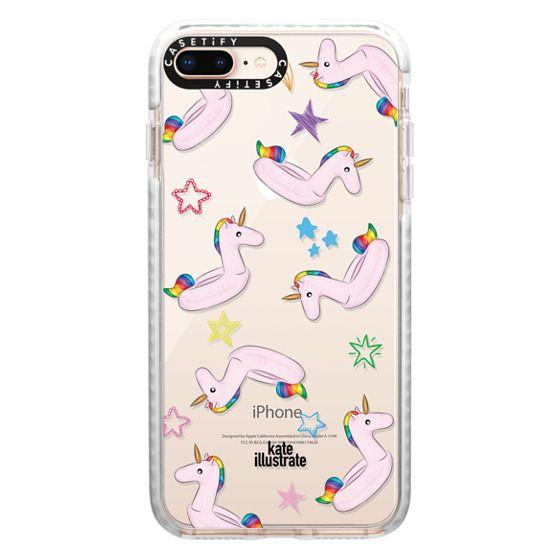 iPhone 8 Plus Cases - Pink Unicorn Float