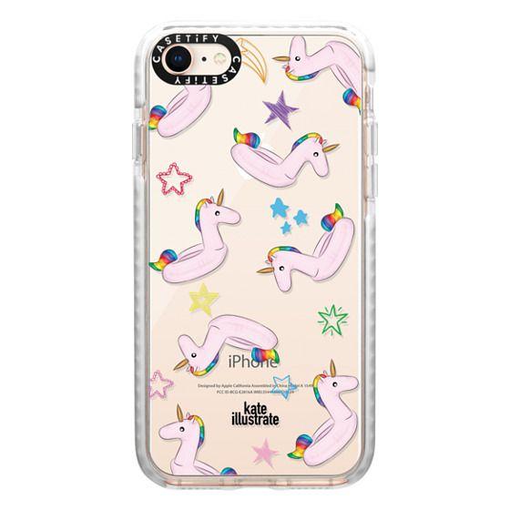 iPhone 8 Cases - Pink Unicorn Float
