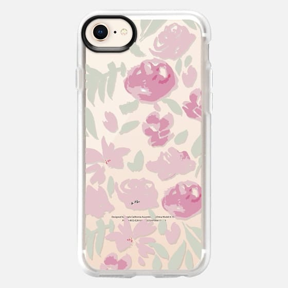 soft floral pink and light green - Snap Case