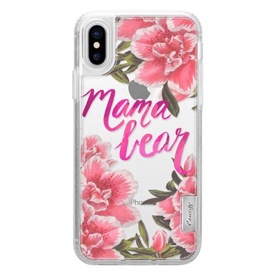 iPhone X Cases - Mama Bear Fleurs by EttaVee