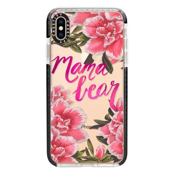 iPhone XS Max Cases - Mama Bear Fleurs by EttaVee