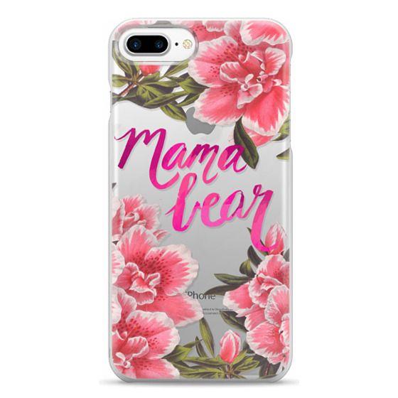 iPhone 7 Plus Cases - Mama Bear Fleurs by EttaVee