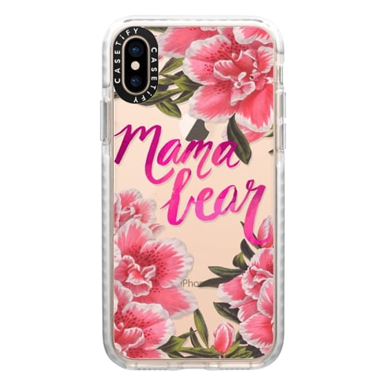iPhone XS Cases - Mama Bear Fleurs by EttaVee