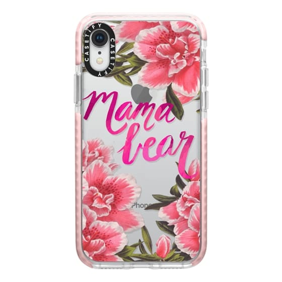 iPhone XR Cases - Mama Bear Fleurs by EttaVee