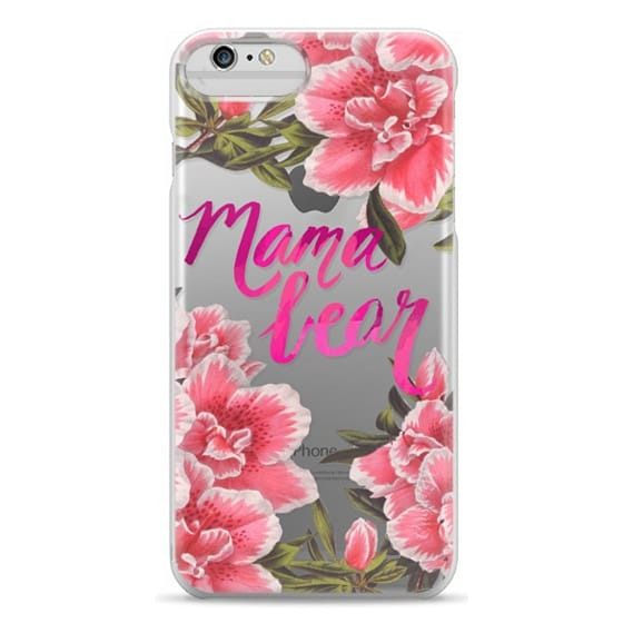 iPhone 6 Plus Cases - Mama Bear Fleurs by EttaVee