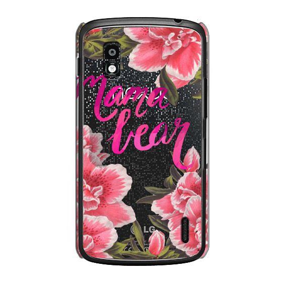Nexus 4 Cases - Mama Bear Fleurs by EttaVee