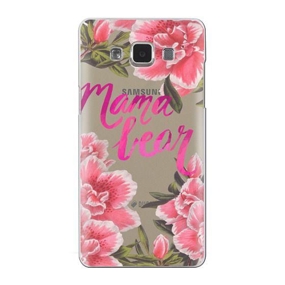 Samsung Galaxy A5 Cases - Mama Bear Fleurs by EttaVee