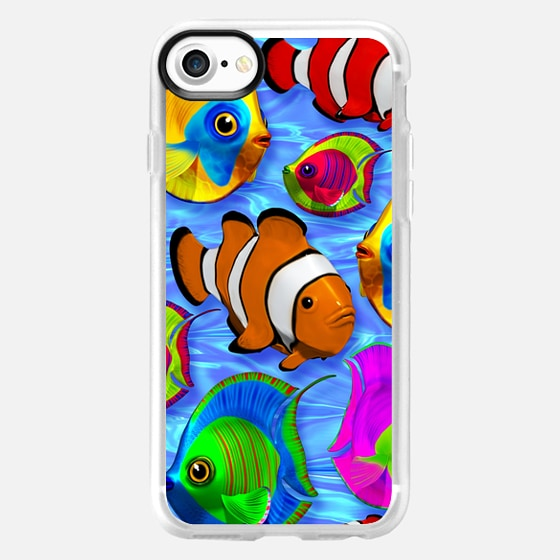 3D Tropical Fishes Pattern - Classic Grip Case