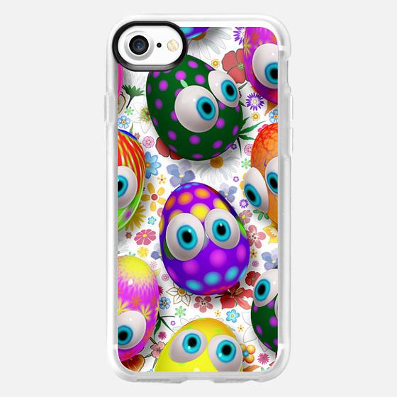3d Cute Easter Eggs Cartoon - Classic Grip Case