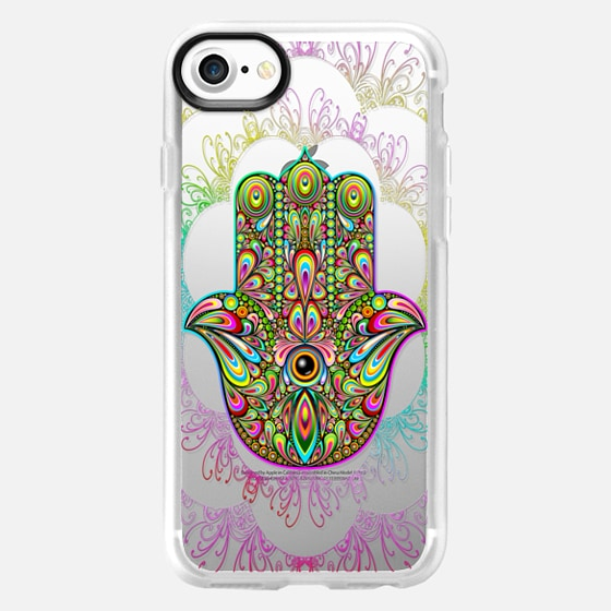 Hamsa Hand Amulet Psychedelic - Classic Grip Case