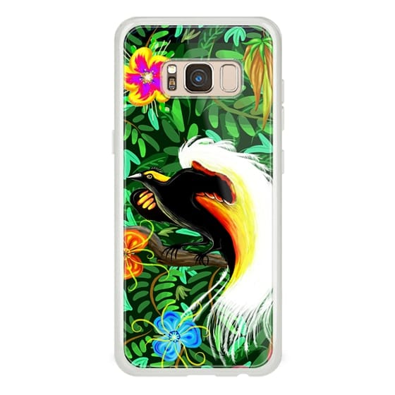 Samsung Galaxy S8 Cases - Paradise Bird Fire Feathers