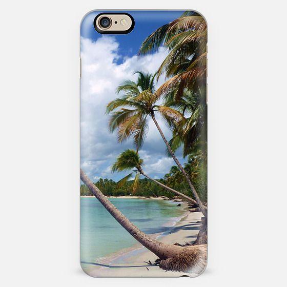 Coconut Palmtree on Wild Beach