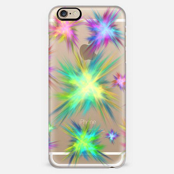 Rainbow Fireworks Explosion Fractal  -