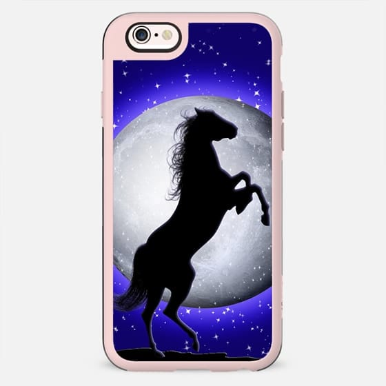 Wild Horse on Surreal Blue Moon  - New Standard Case