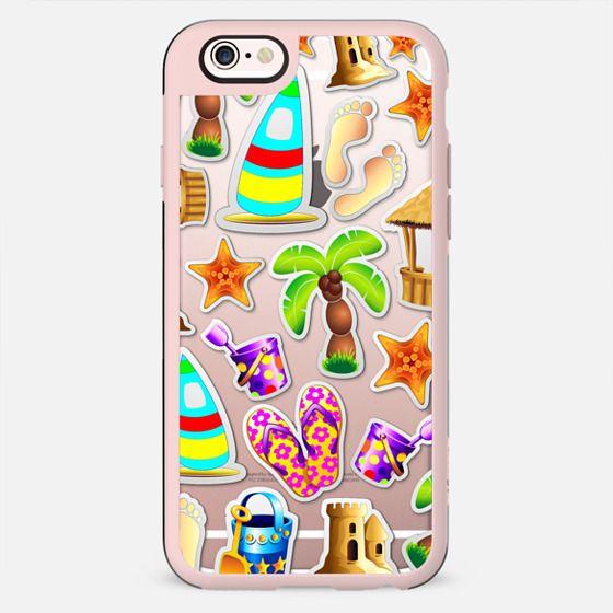 Beach Life Summer Fun Stickers - New Standard Case