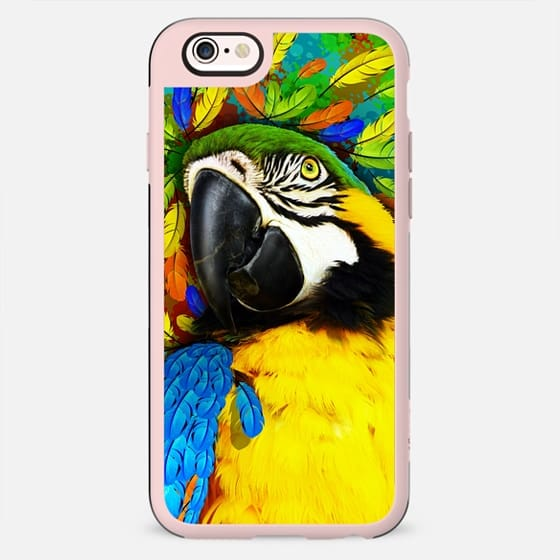 Gold and Blue Macaw Fantasy - New Standard Case