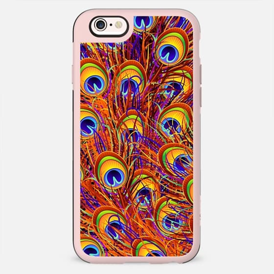 Peacock Feathers Colorful Pattern  - New Standard Case