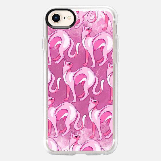 Pink Cat Mood Pattern - Snap Case