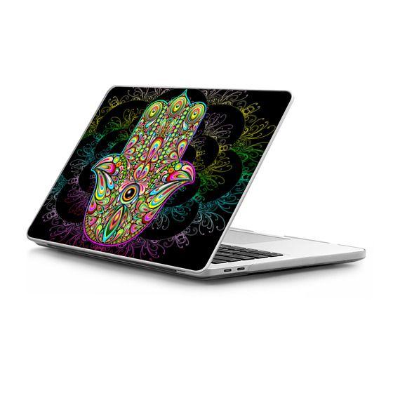 MacBook Pro Touchbar 13 Sleeves - Hamsa Hand Amulet Psychedelic