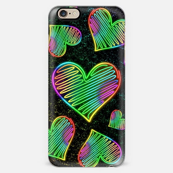 Heart Love Neon Rainbow Colors  -