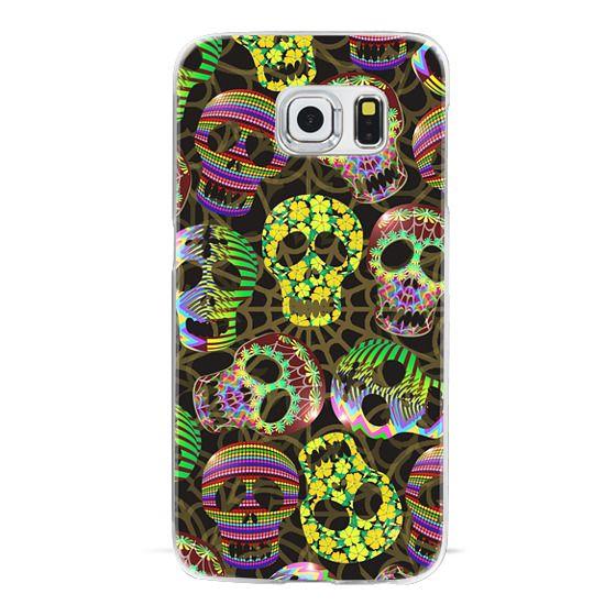 iPhone 6s Cases - Sugar Skulls Halloween Pattern