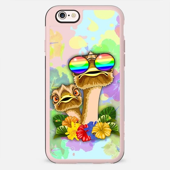 Ostrich Hawaii Fashion Funny Dudes -