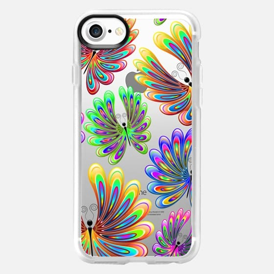 Psychedelic Abstract Butterflies - Snap Case