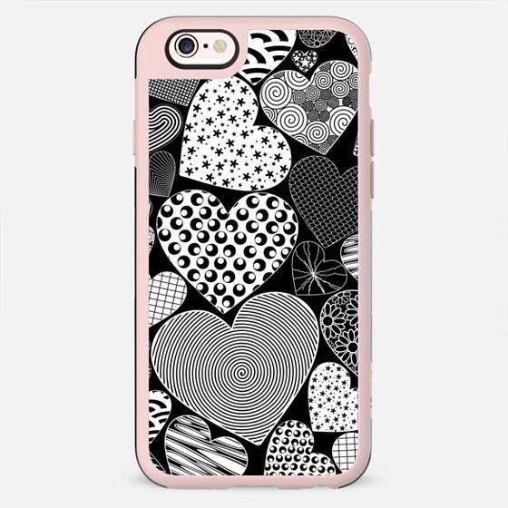 Love Hearts Doodle Art Pattern - New Standard Case