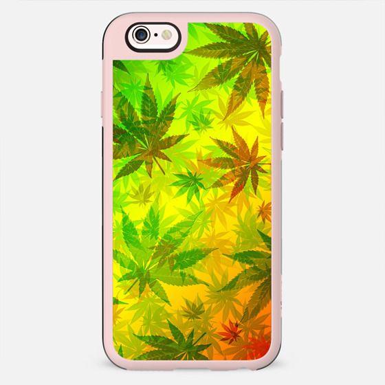 Marijuana Leaves Rasta Pattern -