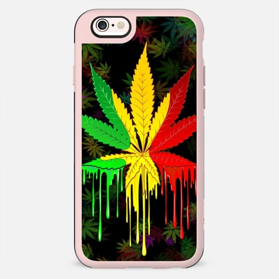 Marijuana Leaf Rasta Colors Dripping Paint - New Standard Case