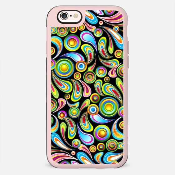 Psychedelic Drops and Circles Pattern