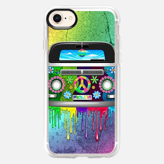 Hippie Van Dripping Rainbow Paint - Snap Case