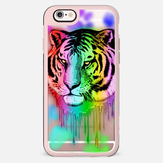 Tiger Neon Dripping Rainbow Colors - New Standard Case