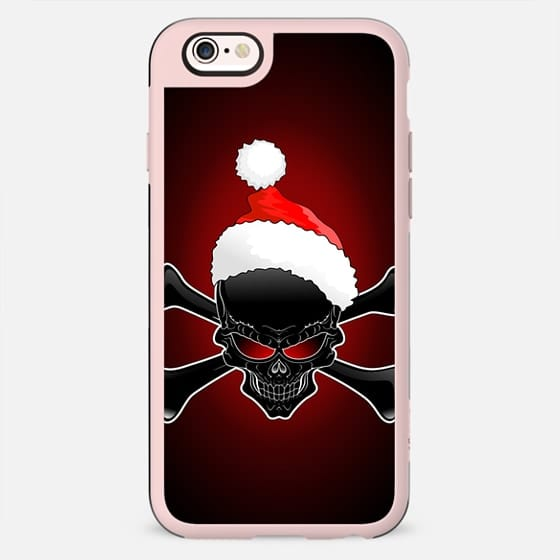 Christmas Santa Black Skull - New Standard Case