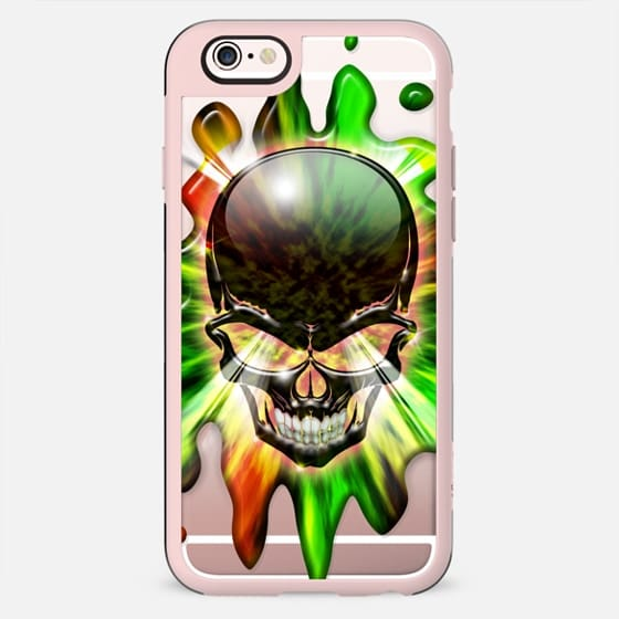 Black Skull Psychedelic Explosion - New Standard Case