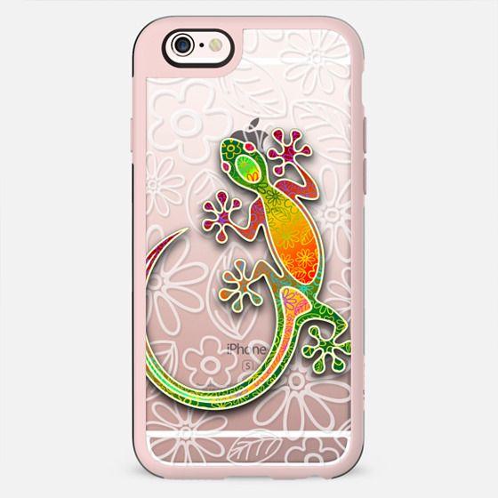 Gecko Floral Tribal Art - New Standard Case