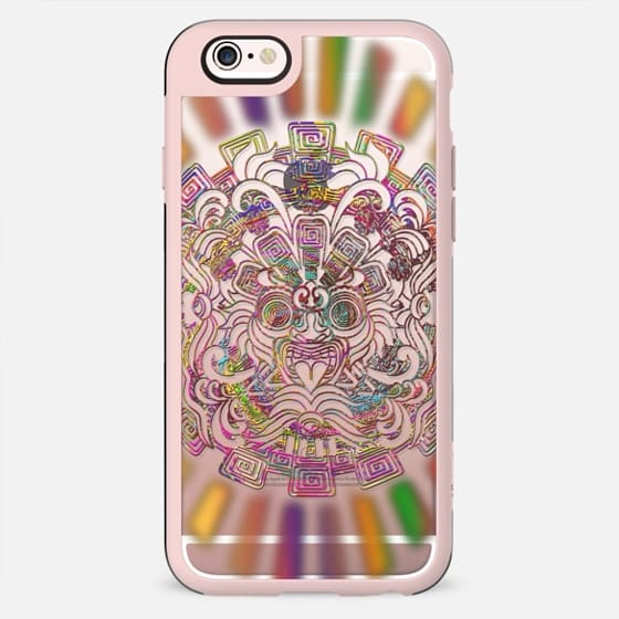 Aztec Sun Psychedelic Mask - New Standard Case