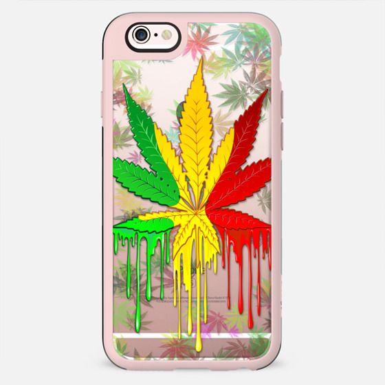 Marijuana Leaf Rasta Colors Dripping Paint - New Standard Case